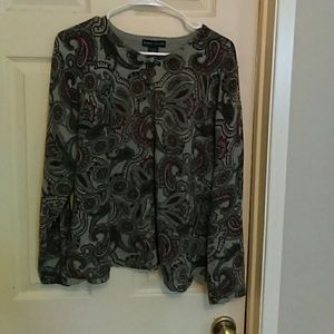 Karen Scott Button Up Sweater